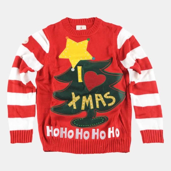 I Love Xmas Christmas Sweater Inspired By The Grinch Movie Etsy