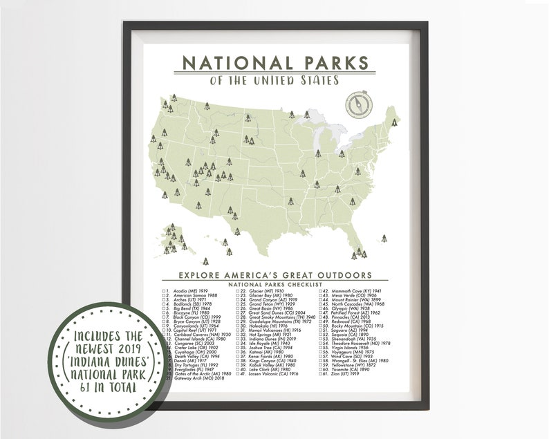 National Parks Map of the United States - Parks Checklist - American on map of american indian reservations, map of american military bases, map of american mountain ranges, map of american interstates,