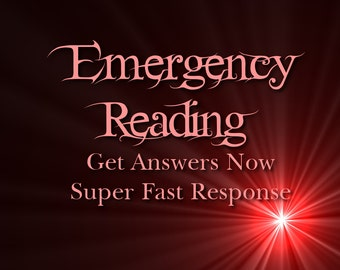 Emergency Psychic Reading Via PDF Email, Super Fast Response