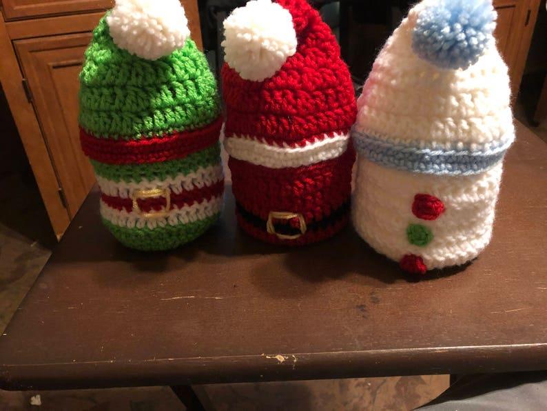 Crcheted Christmas stocking baskets image 0
