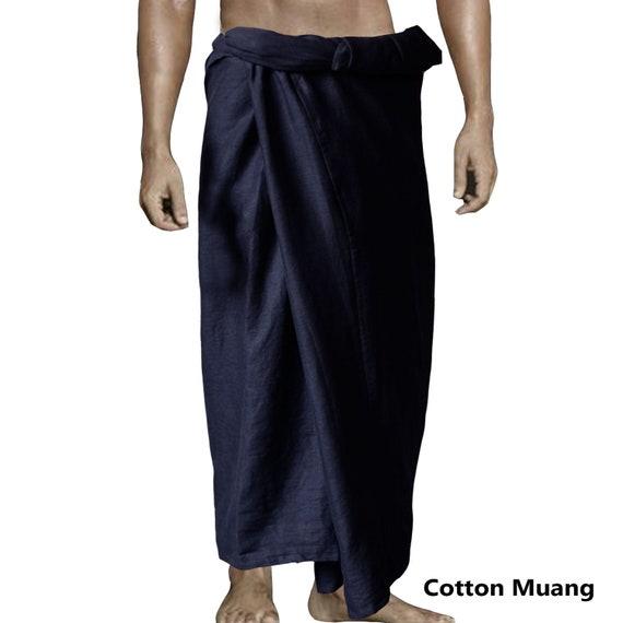 Indian Men/'s Large Sarong Lungi Dhoti Purple Color 100/% Cotton Fabric Night Ware
