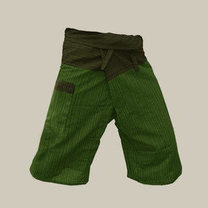 No.15 free size Discount 20/%--Short Patchwork pants see detail . Thai fisherman pants with 1 pocket