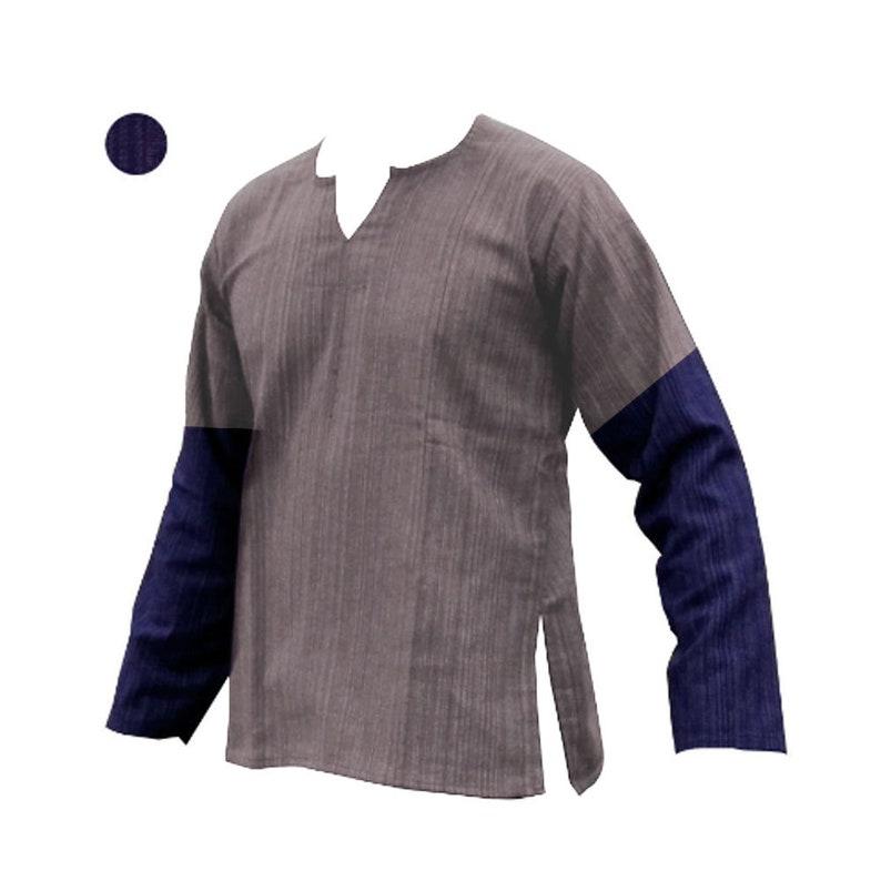 04bfe40f6a 100% cotton long sleeve men's shirt BLUE 2 TONE Thai | Etsy
