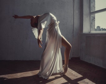 22637ea6d3 Long Silk Bridal Robe F30 Bridal Lingerie Wedding Lingerie
