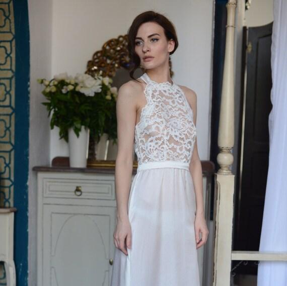 online retailer bd09f 9d0c6 Lange Spitze Braut Nachthemd mit offenen Rücken F5 (Dessous, Nachthemd)  Braut Dessous, Hochzeits-Dessous, Hochzeitsreise, für sie