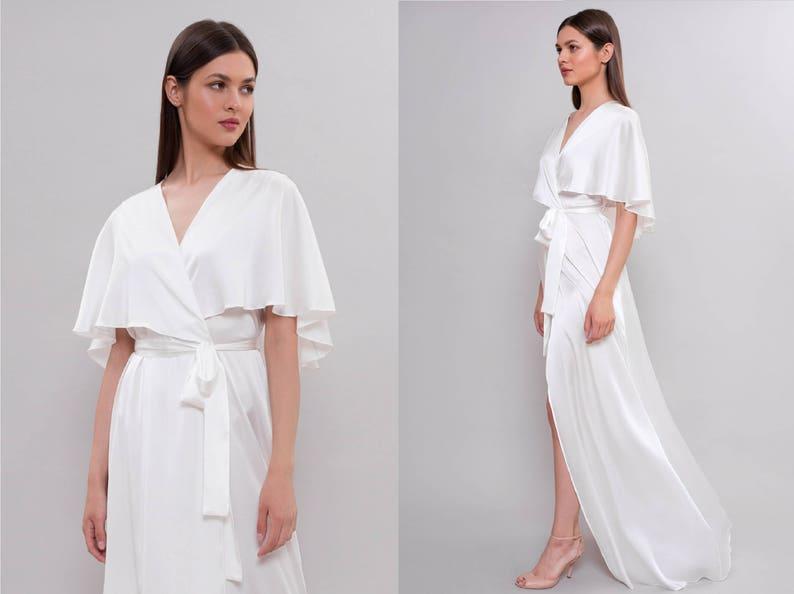 79ec9485bbd Long Silk Bridal Robe F30 Bridal Lingerie Wedding Lingerie