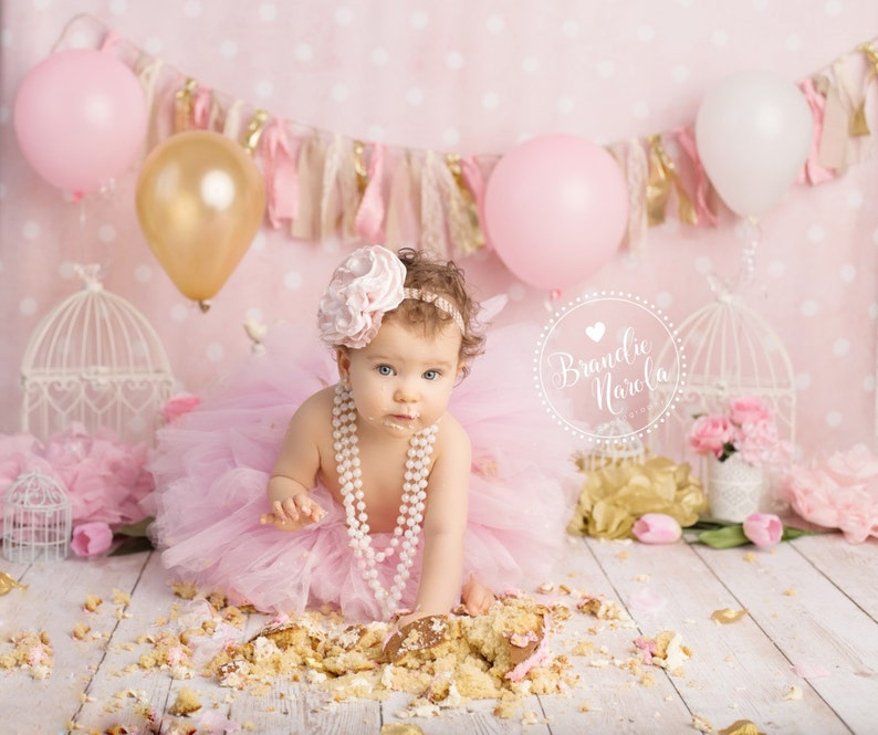cake smash outfit girls first birthday outfit cake smash image 0