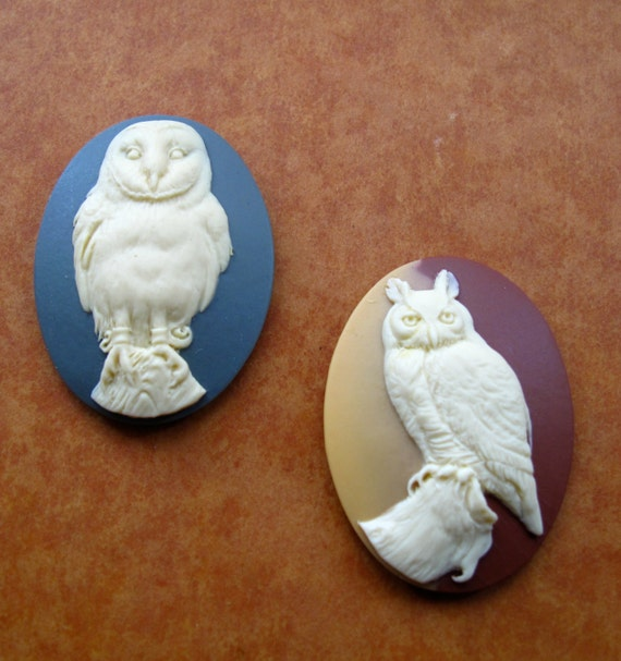 Great Horned Owl Silicone Cameo mould