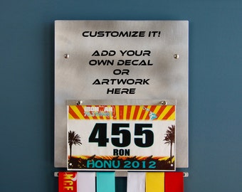 BLANK CANVAS - Wall Plaque to Display Medals & Race Bibs with Space to Add a Decal or Artwork