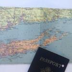 Passport holder: Vintage Long Island Map