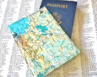 Boston Vintage Map Passport Holder