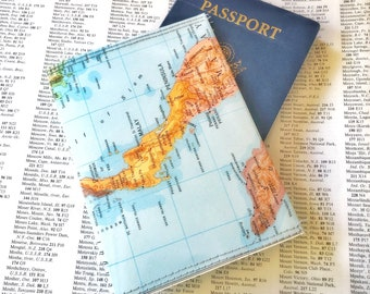 Thailand and Southeast Asia Vintage Map Passport Holder