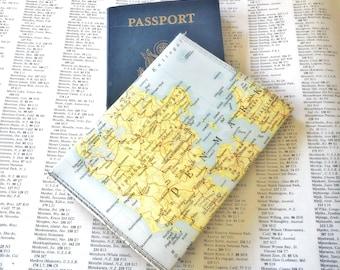 Denmark Vintage Map Passport Holder