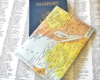 Western US Vintage Map Passport Holder