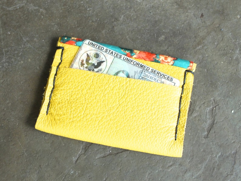 Yellow Leather Wallet image 0