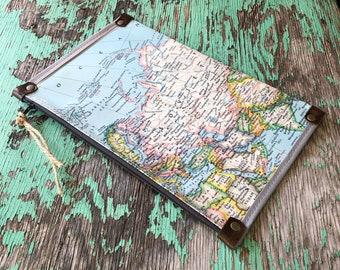 Asia Vintage Map Zipper Pouch