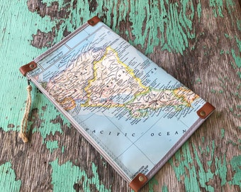 Central America  Map Zipper Pouch