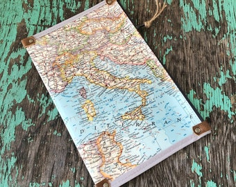 Italy, Spain, Europe Map Zipper Pouch