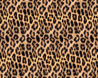 Hoffman Fabrics Wild Kingdom Safari Leopard Digital Print Cotton Fabric  Q4496-686-Leopard ddc0258e2