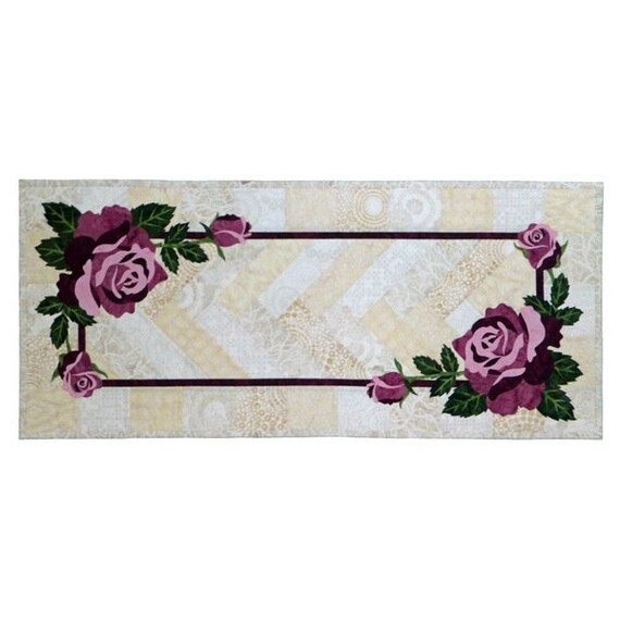CRANBERRY Art Quilt Pattern by Dana Verrengia-Wildfire Designs AK table runner