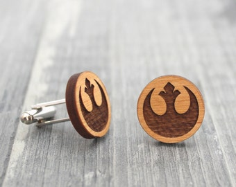 Star Wars Rebel Alliance Wooden Cuff Links