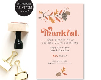 customized rodan and fields fall coupon - thanksgiving - thank you - small business - shop small - fall coupon - promos - hand illustrated