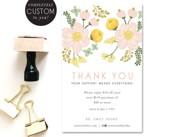 customized rodan and fields spring coupon - printable - thank you - small business - shop small - coupon - promo - DIY - easter - spring