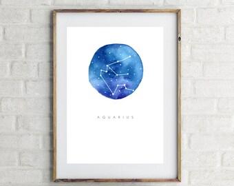 Aquarius Zodiac Print | 8x10 PRINT