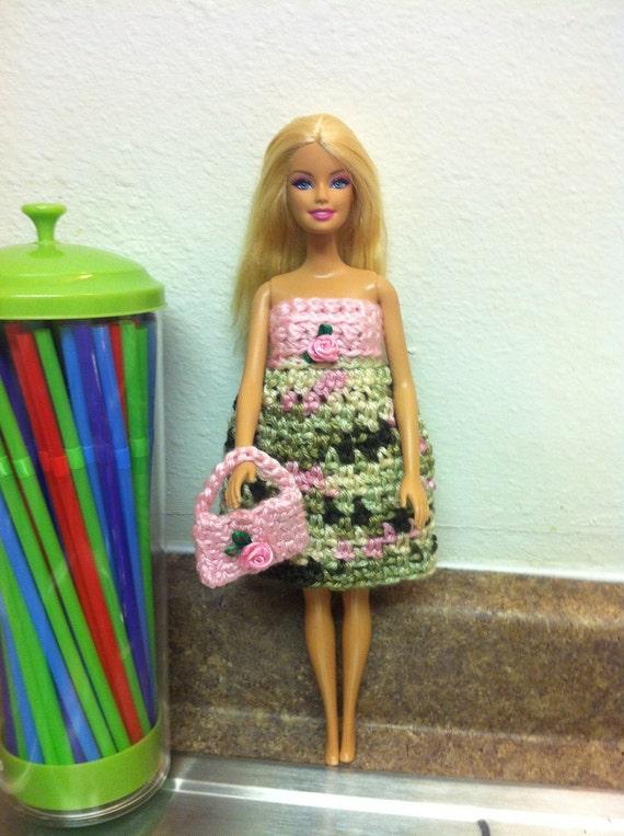 Häkeln Barbie Puppe Kleidung Barbie Barbie Purse Kleid Etsy