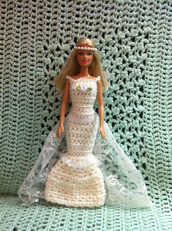 Barbie Hochzeit Barbie Hochzeit Barbie Kleid Häkelkleid Etsy