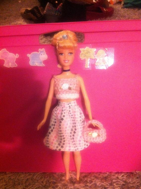 Häkeln Sie Barbie Puppe Kleidung Barbie Kleid Barbie Purse Etsy