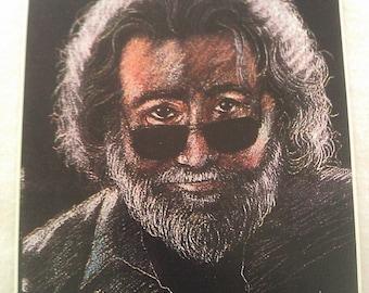 "Grateful Dead Jerry Garcia Portrait 1942-1995 4 3/4""x6 1/2"" STICKER DECAL"