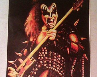 "KISS Gene Simmons Art 5""x6"" STICKER DECAL deadstock new old stock"
