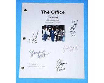 "The Office ""The Injury"" TV Script Screenplay Autographed: Steve Carell, John Krasinski, Jenna Fischer, Rainn Wilson, B.J. Novack"