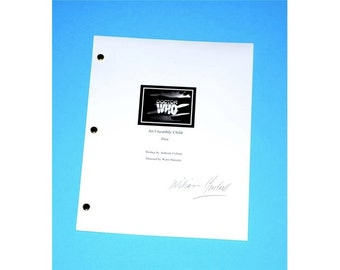 """Doctor Who Pilot Script """"An Unearthly Child"""" 1963 TV Script, Autographed By William Hartnell"""