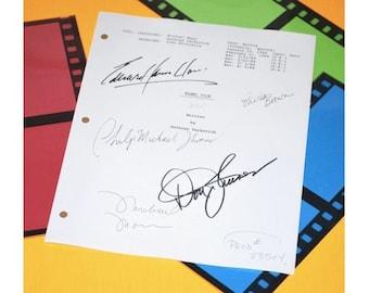 Miami Vice Pilot TV Script Autographed: Don Johnson, Michael Mann, Olivia Brown, Philip Michael, Edward James Olmes