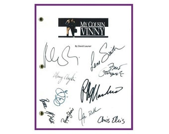 My Cousin Vinny Movie Script Signed Screenplay Autographed: Joe Pesci, Ralph Macchio, Marisa Tomei, Fred Gwynne, Lane Smith, Chris Ellis
