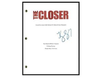 "The Closer ""Pilot"" Episode TV Script Autographed: Kyra Sedgwick"