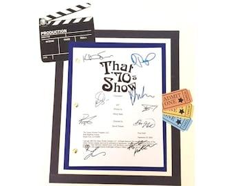"""That 70's Show """"Christmas"""" Signed Script Reprint Ashton Kutcher, Mila Kuna, Laura Prepon + more"""