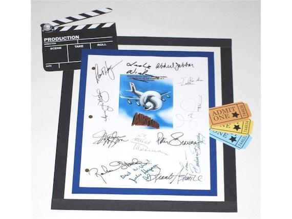 Airplane Movie Script Signed Screenplay Autographed Kareem Etsy
