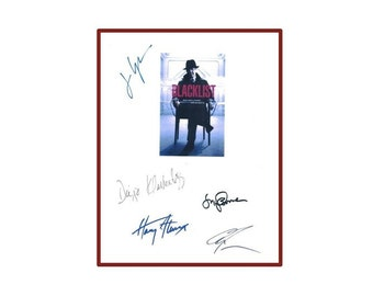 Blacklist Pilot Script Autographed: James Spader, Diego Klattenhoff, Megan Boone, Ryan Eggold, Harry J. Lennix