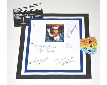 The Terminator Movie Script Signed Screenplay Autographed: James Cameron, Arnold Schwarzenegger, Linda Hamilton, Paul Winfield
