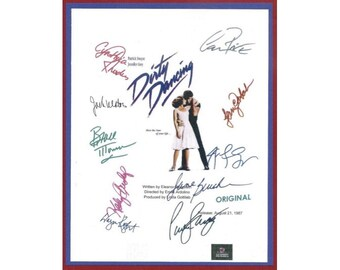 Dirty Dancing Movie Script Signed Screenplay Autographed: Jennifer Grey, Patrick Swayze, Jerry Orbach, Kelly Bishop, Cynthia Rhodes
