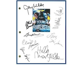 Young Frankenstein Movie Script Signed Rpt Mel Brooks, Gene Wilder, Madeline Kahn, Marty Feldman, Peter Boyle
