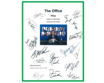 The Office Pilot TV Script Screenplay Autographed: Steve Carell, John Krasinski, Jenna Fischer, Rainn Wilson, B.J. Novack, Ed Helms