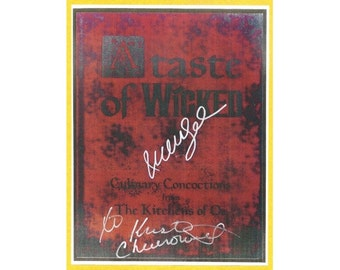 "Wicked ""Taste of Wicked"" Cookbook Script Signed from Cast and Crew: Idina Menzel, Kristin Chenoweth"