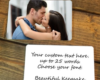 Valentine's Day Gift for him, Personalized Wallet Card, Wallet Insert, Wallet Insert card, photo wallet insert card, gift for boyfriend