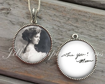 Custom Handwriting Jewelry, Signature Necklace, Personalized Handwriting Keepsake GIFT, Memorial Meaningful Gift , Mother's Gift, memorial