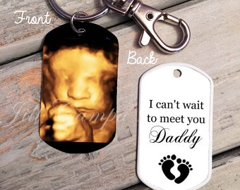 30415333685 SONOGRAM Key chain - New Daddy keychain - Sonogram Dog Tag - Gift for new  Daddy - sonogram key chain - Daddy to be