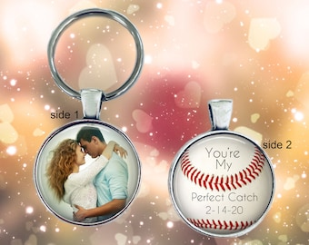 """Gift for boyfriend -  You're my Perfect Catch, Baseball theme - """"You're my perfect catch"""" - boyfriend, husband, groom, anniversary gift"""